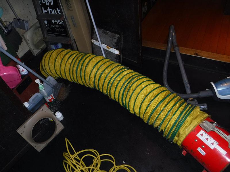 排水管清掃作業、ポンプ槽の清掃